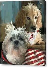 Game Day Acrylic Print by Carrie Joy Byrnes