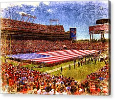 Game Day Nine Eleven Tribute Acrylic Print by Andrew Armstrong  -  Mad Lab Images