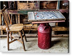Game Of Checkers Acrylic Print by M G Whittingham