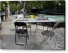 Game Of Chess Anyone Acrylic Print