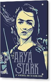 Game Of Thrones Arya Stark Acrylic Print