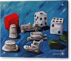 Game Pieces Acrylic Print by Herschel Fall