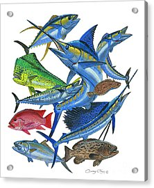 Gamefish Collage Acrylic Print