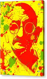 Gandhi Splatter Acrylic Print