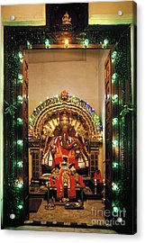 Acrylic Print featuring the photograph Ganesh Shrine by Granger