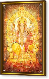 Ganesha Ganapati  Acrylic Print by Ananda Vdovic