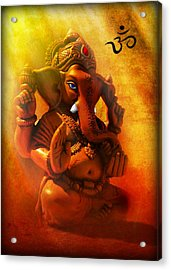 Ganesha Hindu God Asian Art Acrylic Print