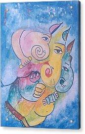 Ganesha Acrylic Print by Rooma Mehra