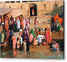 Ganges Acrylic Print by Kurt Van Wagner