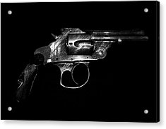 Acrylic Print featuring the mixed media Gangster Gun by Daniel Hagerman
