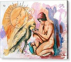 Ganymede And Zeus Acrylic Print
