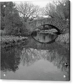 Gapstow Bridge - Central Park - New York City Acrylic Print by Holden Richards