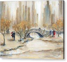 Gapstow Bridge And Lovers Acrylic Print