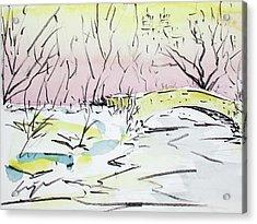 Gapstow In Winter Acrylic Print by Chris Coyne