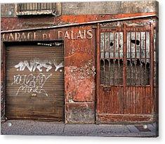 Garage Du Palais Acrylic Print