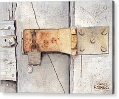 Garage Lock Number Two Acrylic Print by Ken Powers