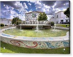 Garcia De Resende Theather Acrylic Print by Andre Goncalves