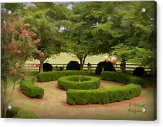 Garden At Colonial Heights Acrylic Print