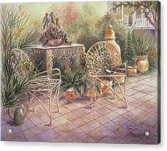 Garden At Linwood  Acrylic Print
