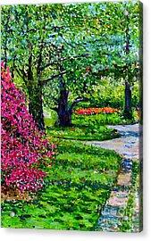 Garden At Snug Harbor Acrylic Print by Anthony Butera