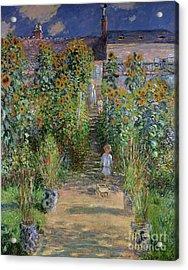 Garden At Vetheuil Acrylic Print by Claude Monet