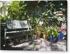 Garden Bench Acrylic Print by Sheila Smart Fine Art Photography