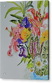 Acrylic Print featuring the painting Garden Bouquet by Beverley Harper Tinsley