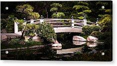 Garden Bridge Acrylic Print by Ed Clark