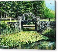 Garden Bridge Acrylic Print by Paul Walsh