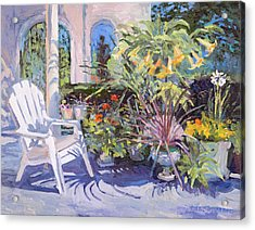 Garden Chair In The Patio Acrylic Print
