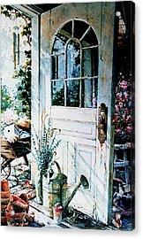 Garden Chores Acrylic Print by Hanne Lore Koehler