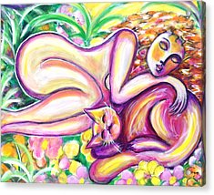 Acrylic Print featuring the painting Garden Delight by Anya Heller