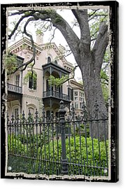 Garden District House Acrylic Print by Linda Kish