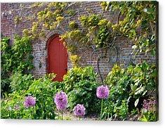 Garden Door - Paint With Canvas Texture Acrylic Print