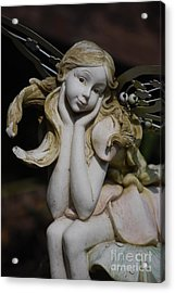 Acrylic Print featuring the photograph Garden Fairy by Lila Fisher-Wenzel
