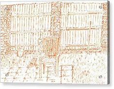 Garden Fence  Acrylic Print by Karen Jane Jones