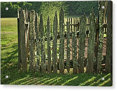 Acrylic Print featuring the photograph Garden - Fence by Nikolyn McDonald