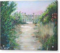 Garden Fence Acrylic Print by Paul Walsh