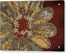 Acrylic Print featuring the digital art Garden Flower by Milena Ilieva