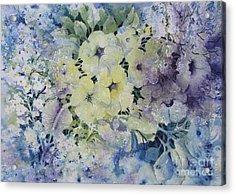 Garden-flowers Acrylic Print by Nancy Newman
