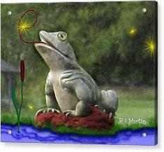 Garden Frog Acrylic Print