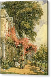 Garden Front Of Mr Robert Vernon's House At Twickenham Acrylic Print by John James Chalon