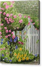 Garden Gate Acrylic Print by Ally Benbrook