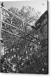 Garden Gate Acrylic Print by Audrey Venute