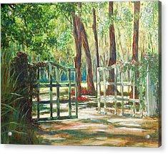 Garden Gate Acrylic Print by Beth Maddox