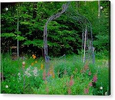 Acrylic Print featuring the photograph Garden Gate by Susan Carella