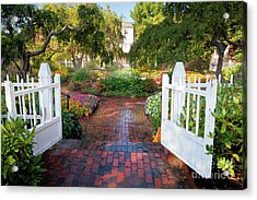 Garden Gate Acrylic Print by Susan Cole Kelly