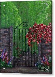 Garden Gateway Acrylic Print