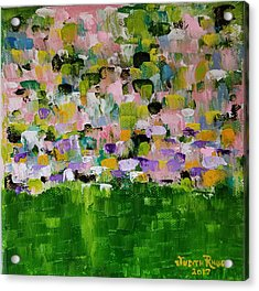 Acrylic Print featuring the painting Garden Glory by Judith Rhue
