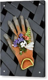 Garden Glove And Flower Blossoms3 Acrylic Print